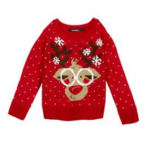 George Girls' Christmas Sweater Red S/P