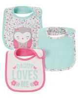 Child of Mine made by Carter's 3pk Bib  - Owl