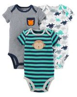 Child of Mine made by Carter's 3Pack Newborn Boys Bodysuits - Animal 0-3 months