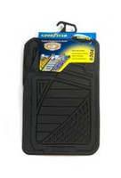 Premium Goodyear Rubber Mat Set - Black Black
