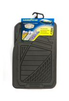 Premium Goodyear Rubber Mat Set - Black Grey