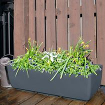 "RTS Home Accents Urban Planter Body 36"" x 15"" Graphite"