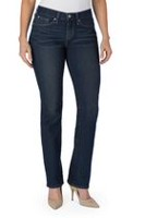Signature by Levi Strauss & Co. Women's Curvy Straight Jeans 4S