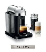 Nespresso® Vertuo Coffee and Espresso Machine by Breville with Aeroccino, Chrome