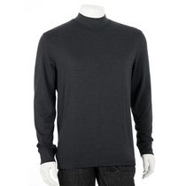 George Men's Mock-Neck Long Sleeved T-Shirt Black XL/TG