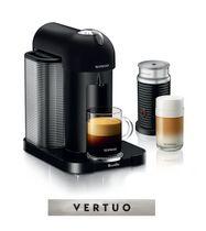 Nespresso® Vertuo Coffee and Espresso Machine by Breville with Aeroccino, Black Matte