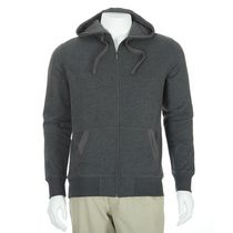 George Men's Waffle Trim Fleece Hoodie Gray S/P