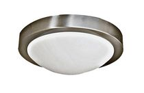 Agnesi 1-Light Satin Chrome Flush Mount