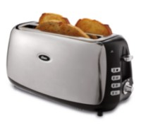 Oster 4 Slice Long Slot Toaster, Polished Stainless Steel TSSTJCPS01-033