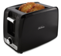 Sunbeam 2 Slice Retractable Cord Toaster Black