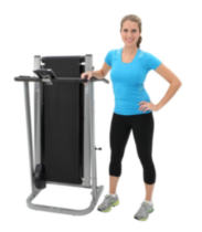 Exerpeutic 260 Manual Treadmill with Safety Handles and Pulse Sensors