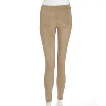 g21 Women's Suede Texture Leggings Taupe S/P