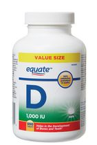 Equate Vitamin D Value Size 1,000 IU