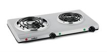 Salton Stainless Steel Portable Double Cooktop THP528