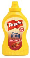 French's Classic Yellow Mustard Prepared Mustard Spicy with Cayenne Piment