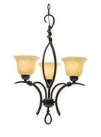 Francesco 3-Light Golden Bronze Chandelier