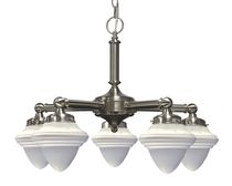 Agnesi 5-Light Satin Chrome Chandelier