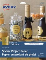 Avery® Gold Sticker Project Paper for Inkjet Printers
