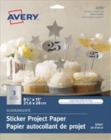 Avery® Silver Sticker Project Paper for Inkjet Printers