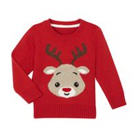 George Toddler Boys' Holiday Sweater Red 3T