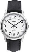 Timex® Easy Reader® Men's Classic White Dial Black Leather Strap Analog Watch