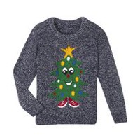 George Boys' Novelty Christmas Sweater Grey S