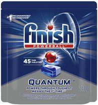 Détergent pour lave-vaisselle Finish, Quantum Max, Frais, 45 tablettes, Éclat et protection pour le verre