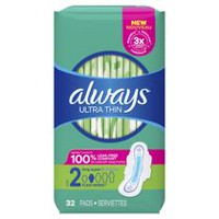 Serviettes Always Ultra Thin Super avec ailes