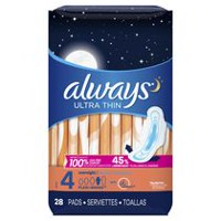 Always Ultra Thin Overnight 10-Hr Leakguard Protection Pads
