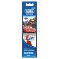 Oral-B Power Toothbrush Extra Soft Replacement Toothbrush Heads featuring Disney & Pixar's Cars