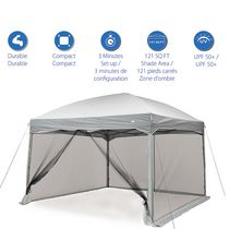 Ozark Trail 11ft x 11ft Instant Canopy with Full Mesh Curtain