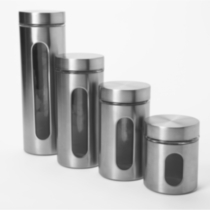 Palladian 4 Piece Canister Set with Window