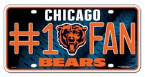 GTEI NFL Chicago Bears Metal Licence Plate