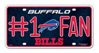 GTEI NFL Buffalo Bills Metal Licence Plate