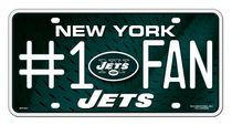 Plaque d'immatriculation des Jets de New York de la NFL