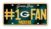 GTEI NFL Green Bay Packers Metal Licence Plate
