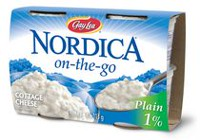 Nordica on-the-go Single Serve Plain 1% M.F. Cottage Cheese