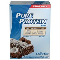 Pure Protein Dark Chocolate Coconut 6x50G Value Pack