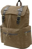 """World Famous """"Sahara"""" Canvas Day Pack - Brown"""