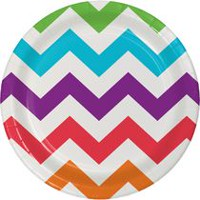 Creative Converting Chevron Party Dinner Plate