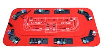 No Limit 3-in-1 Portable Casino Tabletop for Poker, Blackjack, and Craps