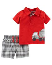 Child of Mine made by Carter's Newborn Boys' 2-piece Truck Set 24M