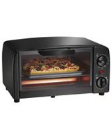 PS 4 Slice Toaster Oven Black