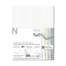 Creative Collection Metallic Finish Cardstock, 24 Sheets