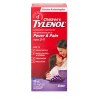 Children's TYLENOL® Oral Suspension 100mL, Grape Punch Flavour