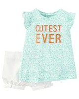 Child of Mine made by Carter's Newborn Girls' 2-piece Cutest Ever Set 0-3 months