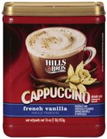 Hills Bros Cappuccino French Vanilla Drink Mix