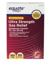 Equate Ultra Strength Gas Relief Simethicone Capsules