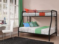 DHP Twin Over Full Metal Bunk Bed Black