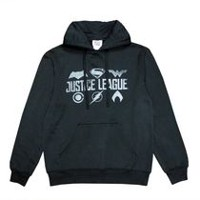Justice League Men's Printed Fleece Popover Hoodie M